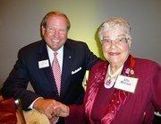 Regions' Bill Horton and Ella McCain.