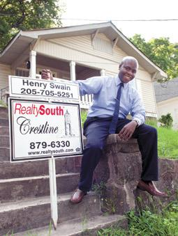 Henry Swain, a new agent with RealtySouth, is optimistic the residential real estate industry will pick up as the market heals from the recession.