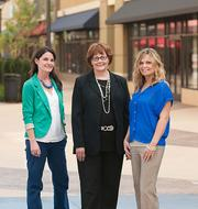 Shops of Grand River's Jamie Robinson, Christine Szalay and Roslyn Jones.