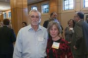 Carl Wright and winner Joan Wright of Childcare Resources.