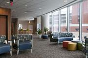 A waiting room and common area at the hospital.
