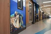 All of the floors incorporate a theme and the design of the facility also incorporates art from Alabama artists.