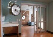 A cardiac care patient room.