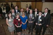Honorees and sponsors pose for a group shot.