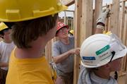 Habitat for Humanity workers rebuild a home in Pratt City.