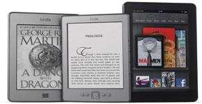 Amazon's line of Kindle e-readers
