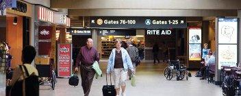 Pittsburgh International Airport's passenger traffic declined 5 percent in July, the Allegheny County Airport Authority said Monday.