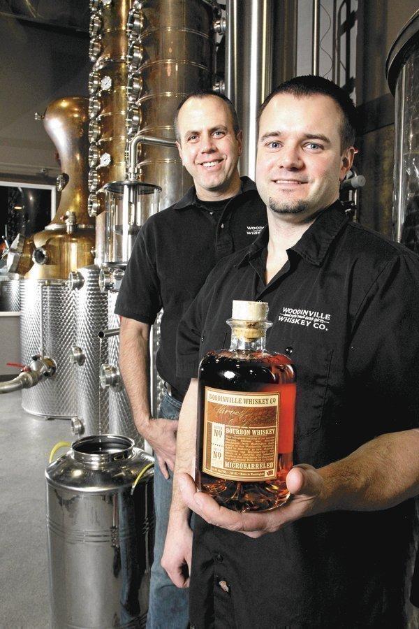 Orlin Sorensen (left) and Brett Carlile of Woodinville Whiskey