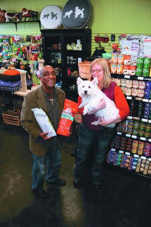 Tré Bone pet store and Carol Ellis