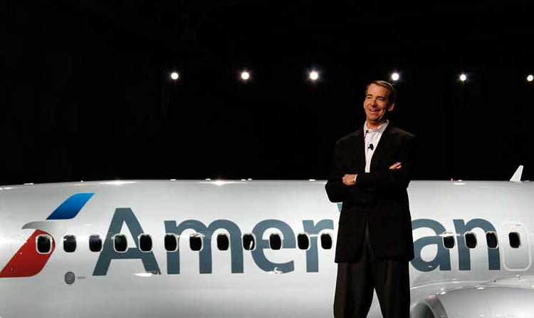 Presiding over the January 17 reveal of American Airlines new look at Dallas-Fort Worth International Airport was Tom Horton, president and chief executive officer of AMR Corp.