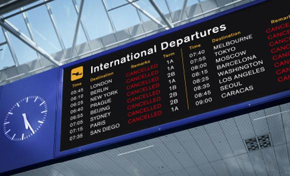 Hurricane Sandy has forced the cancellation of dozens of flights at Nashville International Airport (BNA).