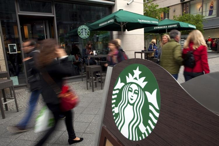 Starbucks is the favorite food spot for business travelers. In the second quarter of this year, 5.2 percent of their dining dollars were spent at one of the coffee shops, according to Certify.