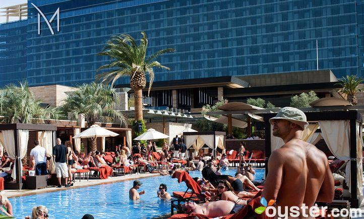 Going for a dip at this Las Vegas hot spot is going to cost you: The fee to enter M Resort and Spa's Daydream adult-only pool is $15 for out-of-towners.