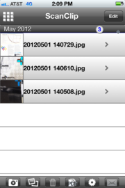 ScanClip also organizes your various document scans.