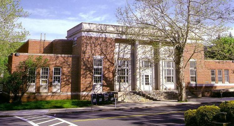 Scarsdale, N.Y. (whose Post Office is pictured) is the only Eastern community where the median household income is above $200,000, the median home value is higher than $1 million and more than 80 percent of adults hold bachelor's degrees.
