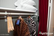 Kimpton hotels, such as Hotel Rouge in Washington, D.C., offer guests playful, animal-print robes to use during their stay.