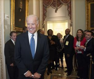 Vice President Joe Biden spent New Year's Eve at the Capitol in order to convince Democrats to vote for the fiscal cliff deal he negotiated.
