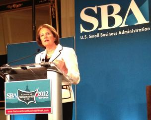SBA Administrator Karen Mills says small-business lending is contributing to an increase in exports.