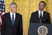 President Barack Obama speaks during his nomination of Chuck Hagel as Secretary of Defense.