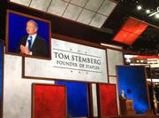 Staples founder Tom Stemberg talks about how Mitt Romney and Bain Capital helped the office products retailer get its start.
