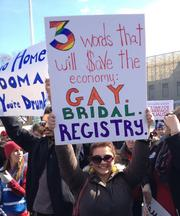 A George Washington University student pointed out how legalizing gay marriage would be good for business.