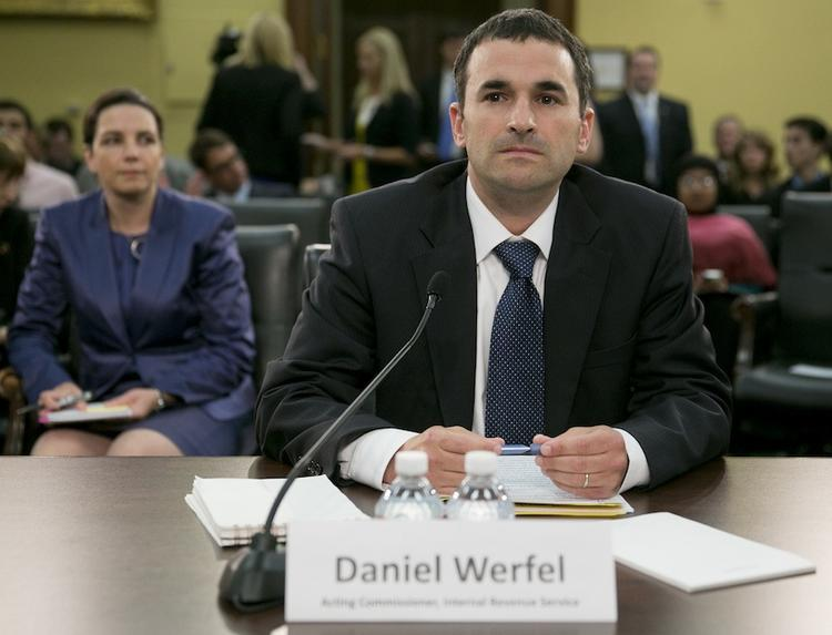 Acting IRS Commissioner Daniel Werfel testifies before the House Appropriations Committee.