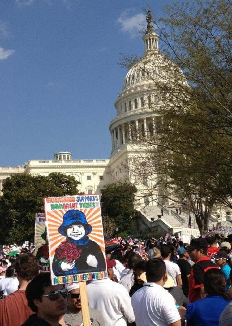 Supporters of immigration reform held a rally outside the U.S. Capitol last week.