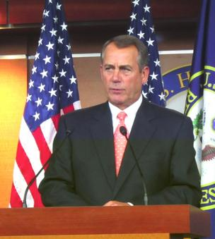 House Speaker John Boehner, R-Ohio, makes an offer -- with conditions -- to help resolve the fiscal cliff facing the federal government.