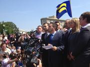 "Jeff Zarrillo, one of the plaintiffs in the case challenging California's Proposition 8, said gay Americans ""will not be treated like second-class citizens."""