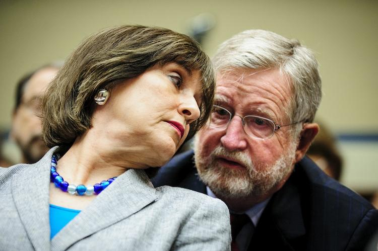 Three representatives from conservative groups targeted by the IRS said they got letters from Washington, D.C. headquarters official Lois Lerner, shown here conferring with her attorney, in addition to communications from the agency's Cincinnati field office.