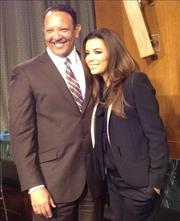 Marc Morial, president and CEO of the National Urban League, poses for a photo with Eva Longoria.
