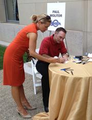 Hall of Famer Paul Molitor signs autographs at Annual Hot Dog Day event on Capitol Hill.