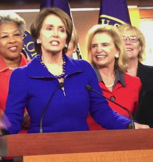 House Minority Leader Nancy Pelosi announces that she'll remain in her leadership post.