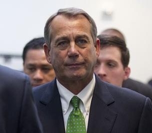 House Speaker John Boehner voted for the fiscal cliff deal; most other Republicans voted against it.