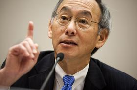 Energy Secretary Steven Chu testifies at a Nov. 17, 2011 House hearing about his agency's $535 million loan guarantee to now-defunct Solyndra.