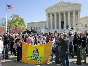 Health care reform drew lots of demonstrators to the U.S. Supreme Court.