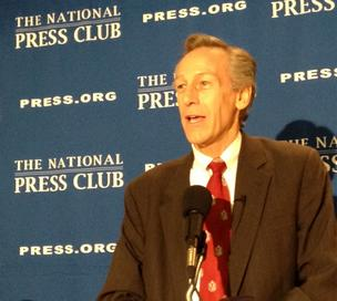Constitution Party presidential nominee Virgil Goode speaks at the National Press Club in Washington, D.C.