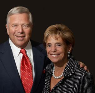 Portrait photo of Myra Kraft and Robert Kraft.