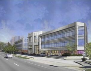 Rendering of Atrium Center at Chestnut Hill.