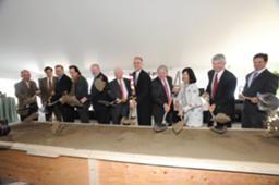 Officials broke ground on 100 Pier 4 on Boston's waterfront.