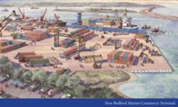 Artist rendering of New Bedford Marine Commerce Terminal.