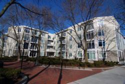 Former Rounder Records headquarters is now a 37-unit apartment complex, just off Massachusetts Avenue in Cambridge.
