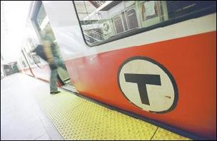 Photo of an MBTA subway train.