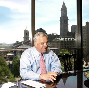 Mayor Thomas Menino in his office. Boston Globe editor Brian McGrory met with him there before the paper was scooped by David Bernstein, an unemployed political writer formerly of the Boston Phoenix.