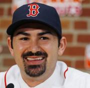 Red Sox first baseman Adrian Gonzalez will make $21.9 million this year.