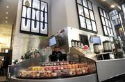 Food choices are numerous at the new flagship Walgreens in the downtown.