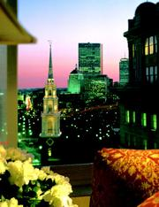 7) Harvey Parker Founders Suite, 14thfloor, Boston Omni Parker House Hotel.60 School St., Boston (photo 1 of 2).What you get:1,200 square feet with views of Boston Common, Public Gardens, Freedom Trail, Back Bay, Old North Church in North End, Navy Yard and USS Constitution in Charlestown. Two bedrooms with two baths.What sets it apart:The premier suite in one of Boston's more famous landmark hotels.Who's slept there:Anne Margaret, Hugh Hefner, Muhammad Ali, Bob Hope, Judy Garland, Winston Churchill, Graham Bell, Ted Williams, Babe Ruth, James Dean, Joan Crawford along with 10 U.S. presidents and rock and roll groups The Who and Grateful Dead.What you'll pay:$3,500 per night.