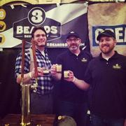3 Beards Brewing Co.189 West Main St., Northborough, MA 01532(413) 345-2858 / www.3beardsbeer.comOwners (pictured left to right): Abraham Seckler (co-owner), Nate Peterson (supporter) and Brandon Rougeau (co-owner)Opened: January 2010Production: 500 barrels per yearInventory: Black Lager and IPADistribution: Throughout Massachusetts and soon in Connecticut Miscellaneous: 3 Beards beer is brewed at Paper City Brewing Company in Holyoke. 3 Beards is also working with two other brewers in Ohio, who are working together to create an IPA recipe, which will be brewed at the Opa Opa Brewing Co. in Southampton.