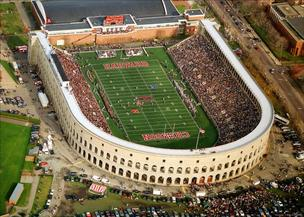 Harvard Stadium, the site of this year's Harvard-Yale game, was built in 1903.