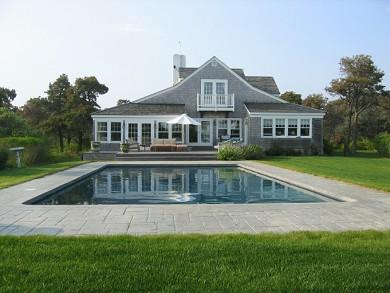This $15,000-per-week Surfside rental on Nantucket comes with a pool, seven bedrooms and five baths on a private 3-acre setting.